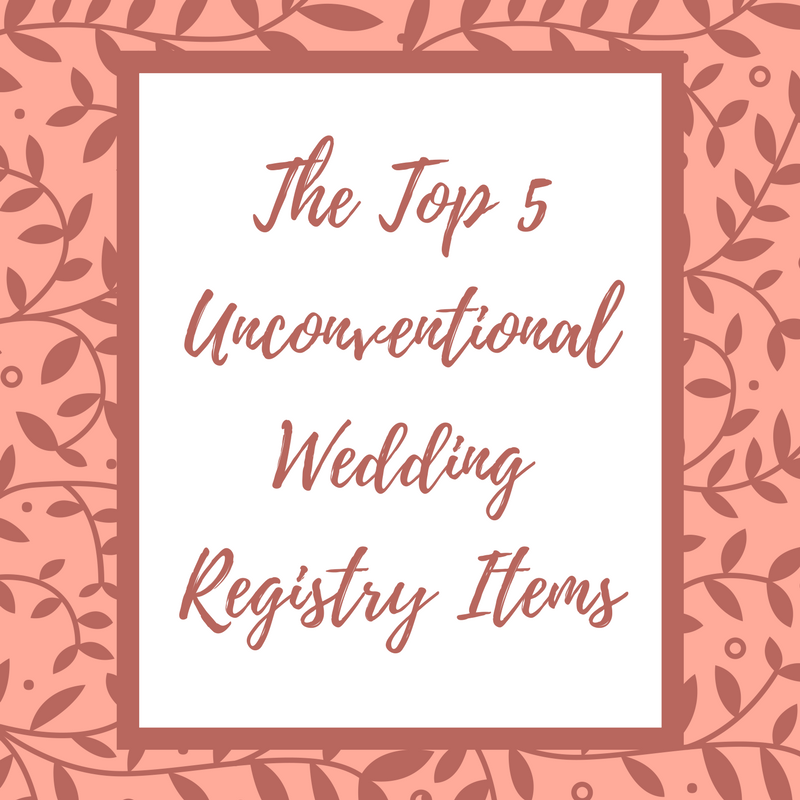 The top 5 unconventional wedding registry items grand events view larger image junglespirit Choice Image